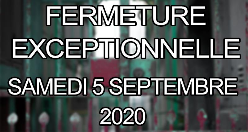 SAMEDI 5 SEPTEMBRE 2020